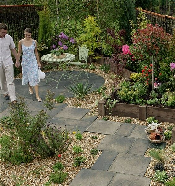 Integrated Paving And Gravel Concept Gravel Garden Garden Paving Gravel Patio Garden Pavers