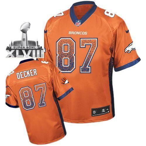 nike denver broncos 87 eric decker orange drift fashion elite 2014 super bowl xlviii nfl jerseys