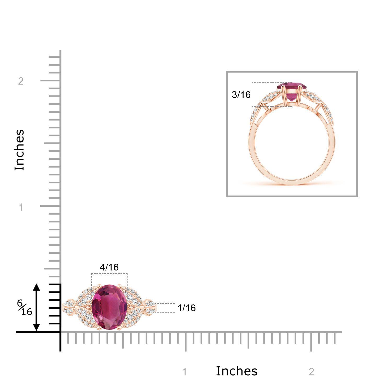Angara Pink Tourmaline and Diamond Trillium Petal Flower Ring P2Wh15ZZUF