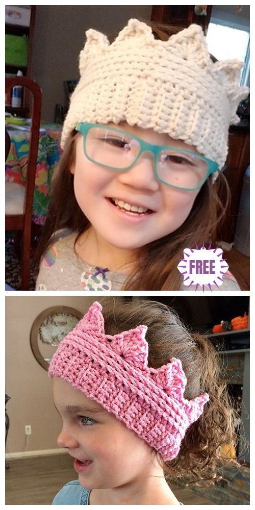 Crochet Crown Ear Warmer Free Crochet Pattern | Häkeln | Pinterest ...