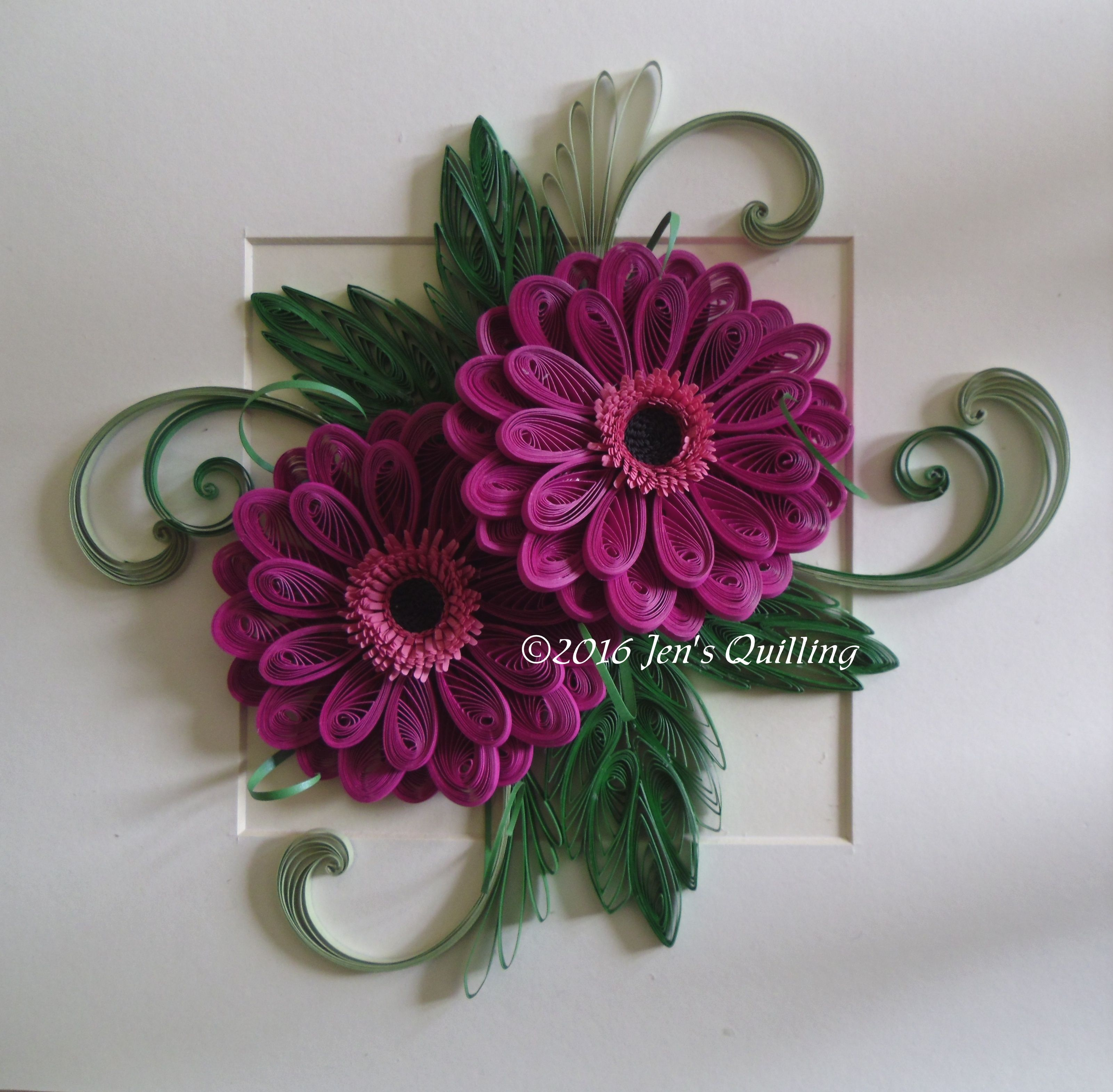 Quilled Gerbera Flowers Quilling Designs Quilling Work Quilling Patterns