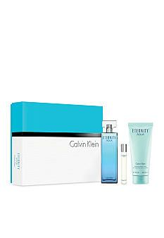 Calvin Klein Fragrances Eternity Aqua - An aquatic floral bouquet with refreshing cucumber water, warm sensual woods and transparent musks