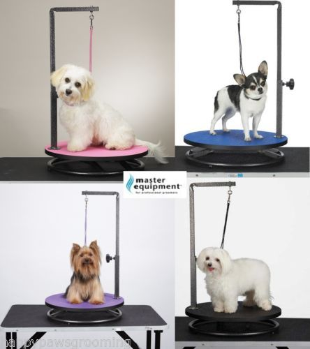 Master Equipment Round Rotating Small Pet Dog Cat Grooming Table