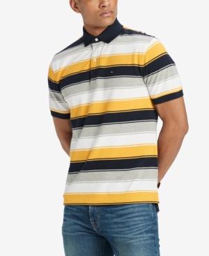 0e4a629e Tommy Hilfiger Men's Aldo Striped Classic Fit Polo Shirt, Created for  Macy's - Yellow XXL