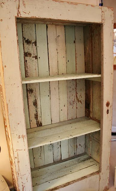 Bookcase Made Out Of Old Door Frames