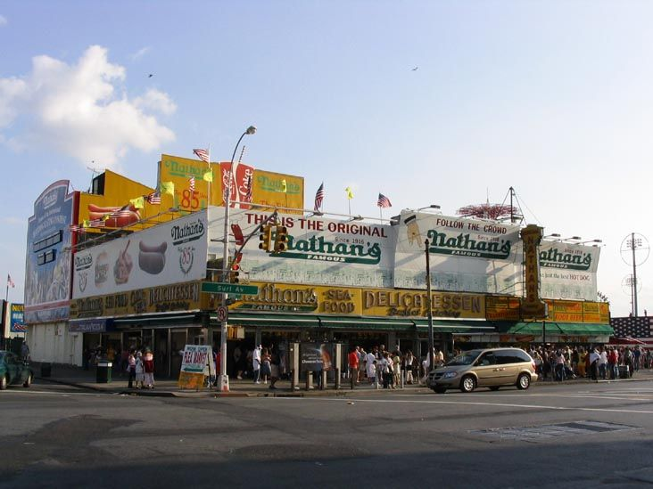 Nathan's Famous.... In Coney Island Coney island