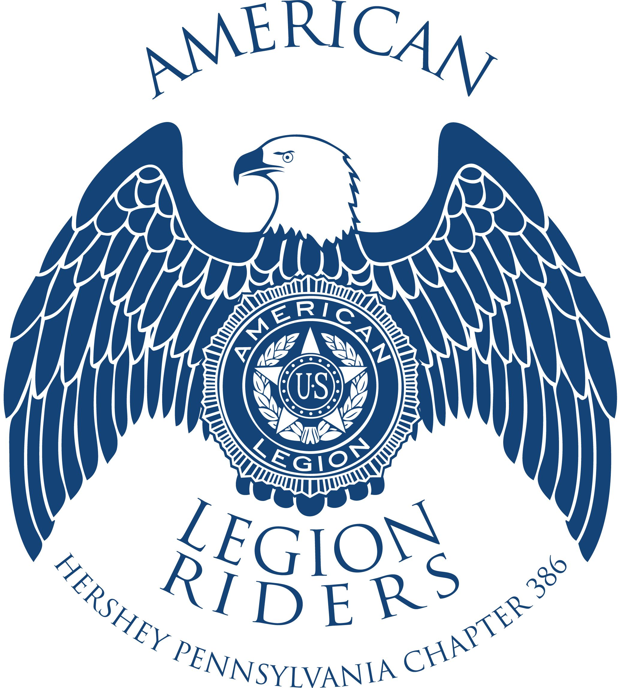American Legion Riders Hershey Pennsylvania Chapter 386 Logo Vectorized And Ready For Digital American Legion Riders American Legions American Legion Auxiliary