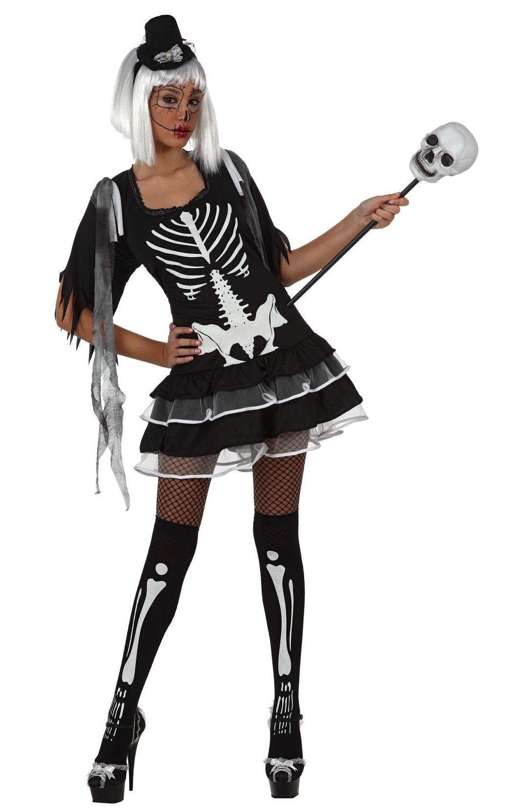 Disfarce esqueleto adulto sexy para mulher   Halloween   Costumes ... be8145ba19