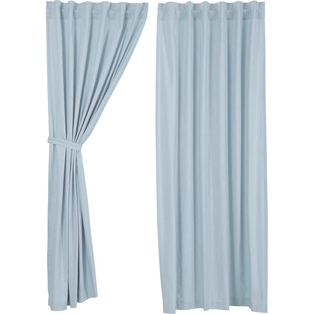Regina Light Blue Panel Curtains 96x55 Light Blue Curtains