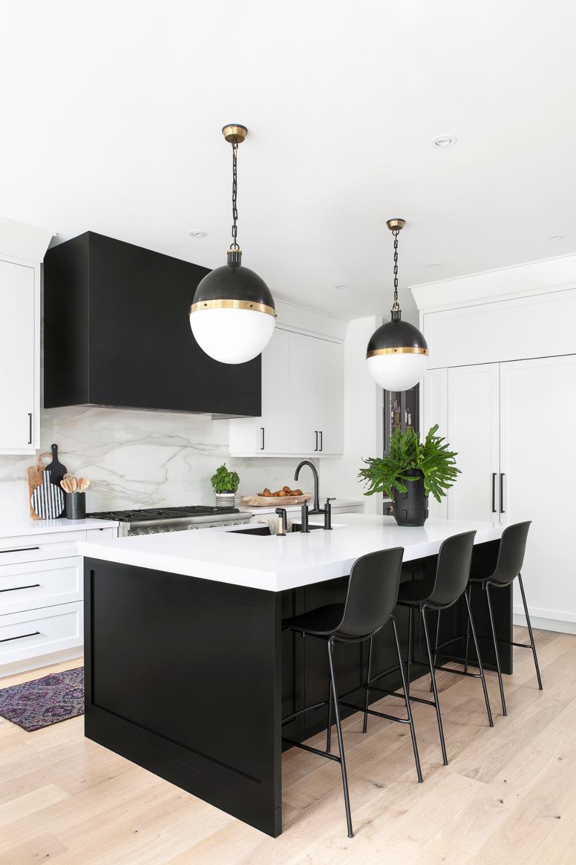 Westgate Collective Studio White Modern Kitchen Black Island