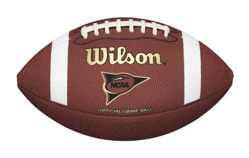 Wilson WTF1705 Tackified Composite Football (Official Size) (026388975150) NCAA branded composite cover Same patterns at composite game balls Double Laces Approved for play in all major youth leagues Official size