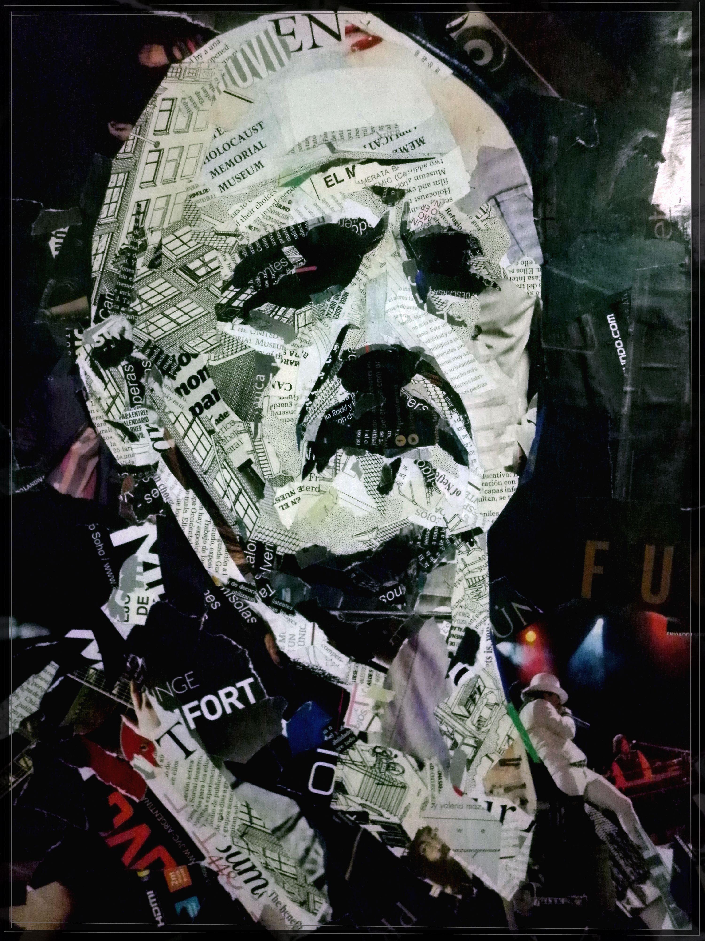 Retrato Collage del guitarrista Jimi Hendrix / por Gonzalo Rielo ...