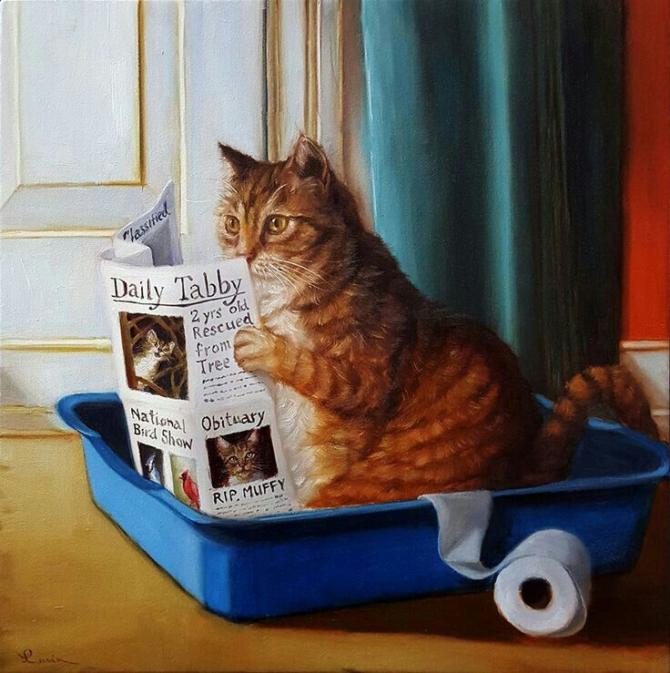 Pin by Tracie Colston on funny kitties Cat art, Cats