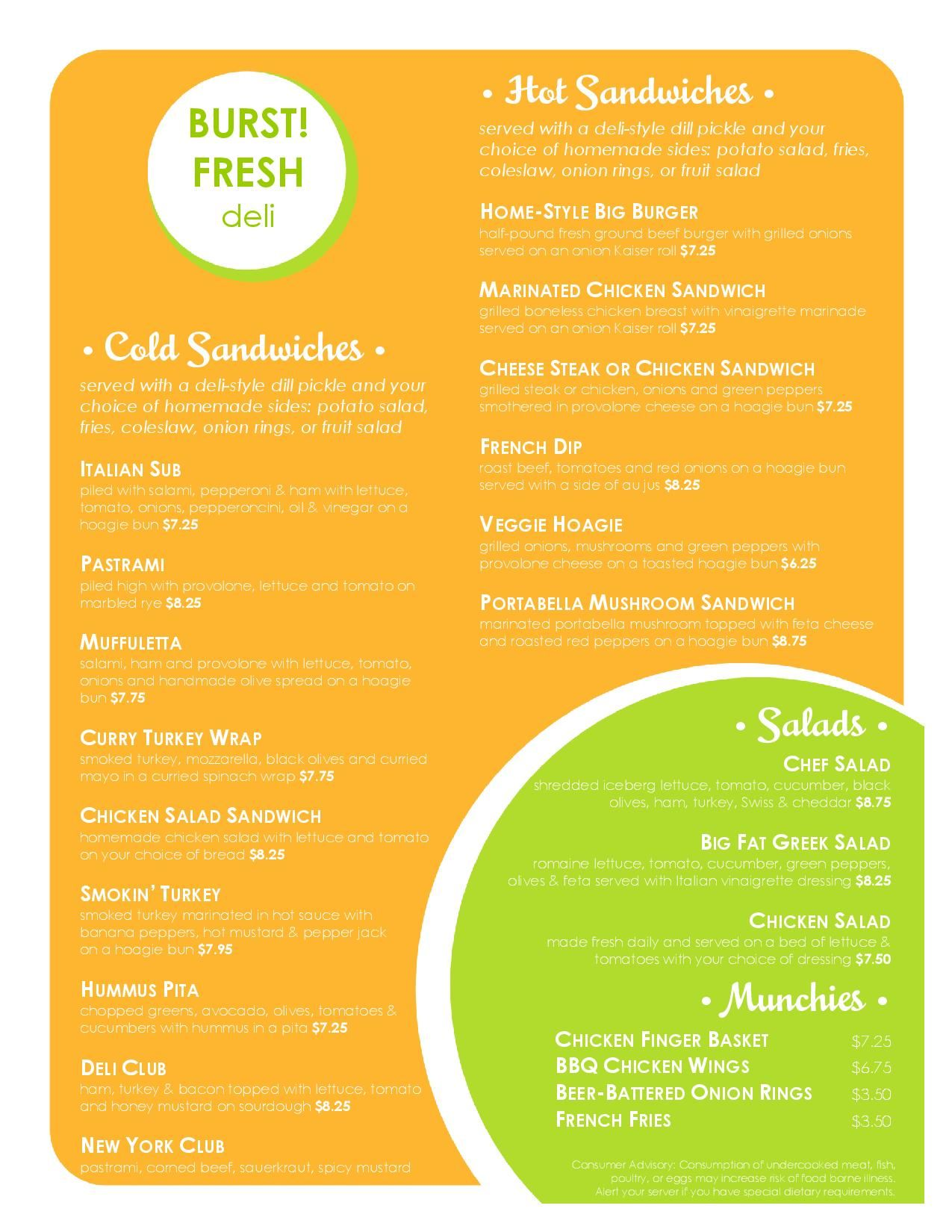 deli template menu design