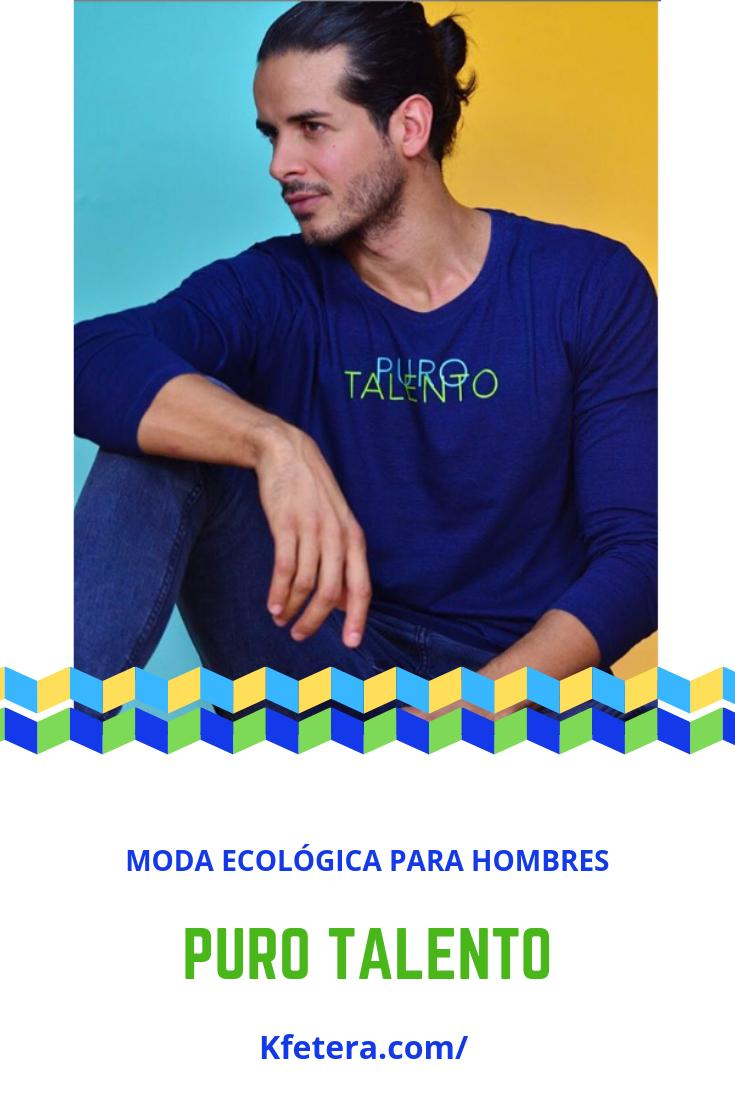 cf6f4b2fa391 Moda ecológica para hombres. Camiseta manga larga hombre, look ...