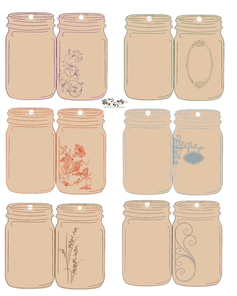 Folding jar tags jar free and free printable look at these folding jar tags would look great if paired with a home made negle Gallery