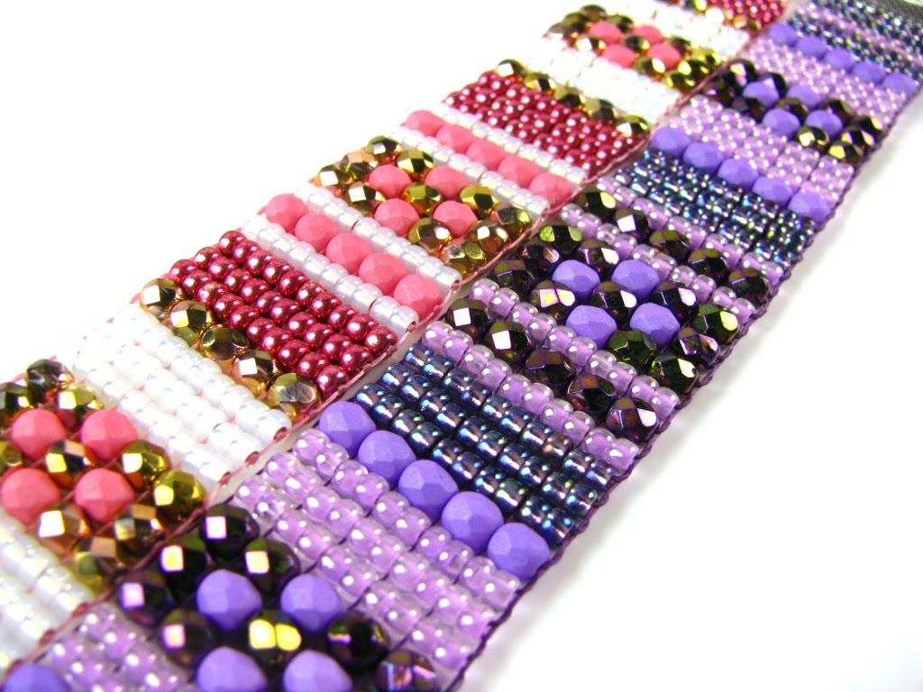 bead pattern fa stitch bracelet ladder iniciante padr michaels o a casa com nctodo materials beads tila beginner