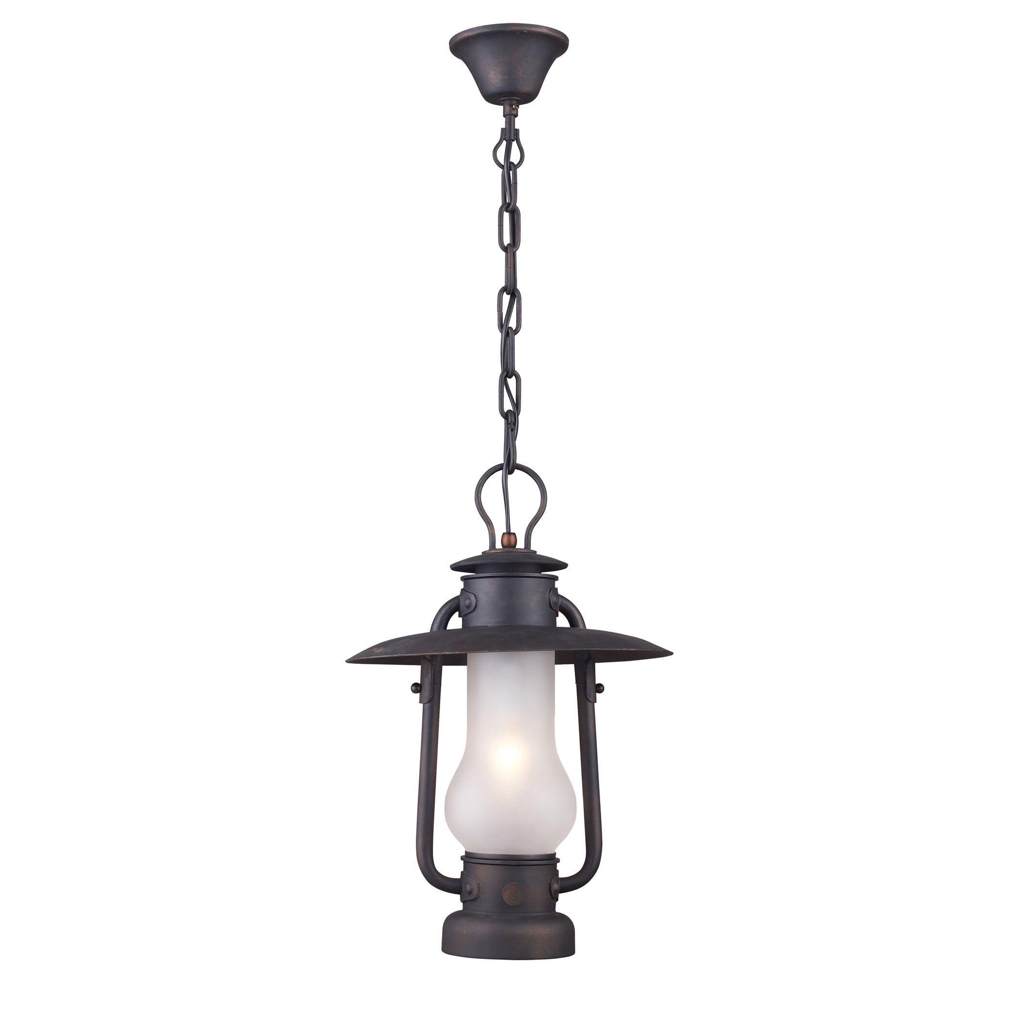 Chapman 1 Light Pedant In Matte Black And Acid Etched Glass ...