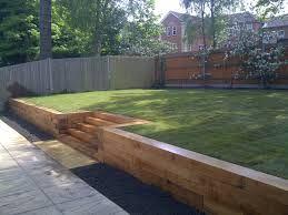 backyard split level - Google Search | Garden retaining ...
