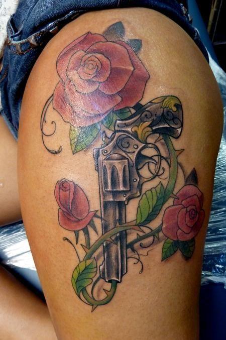 Small Tattoo Guns: Tatoo, Tatuagem Feminina, Rosas