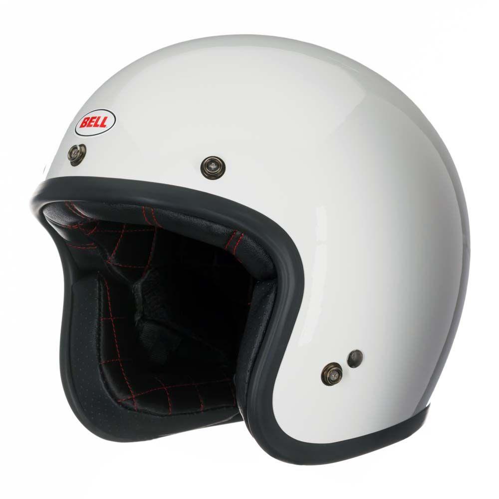 52409ad1 Bell Custom 500 Helmet - Vintage White | Full Face Motorcycle Helmets |  FREE UK delivery - The Cafe Racer