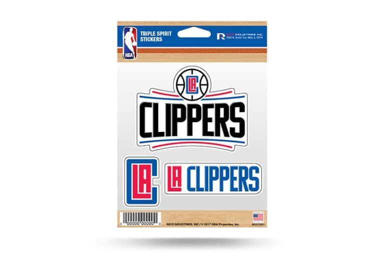 LA Clippers Window Decal Sticker Set NBA Officially