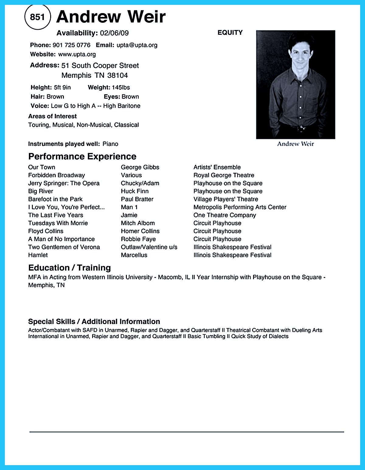 Resume Strengths Acting Resume Sample Presents Your Skills And Strengths In