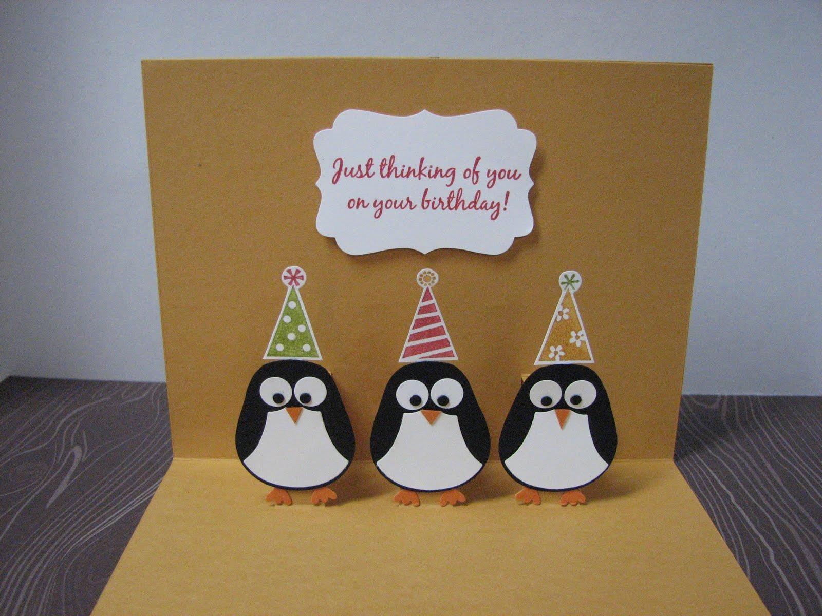 Penguins Thot Birthday Card Cards Pinterest