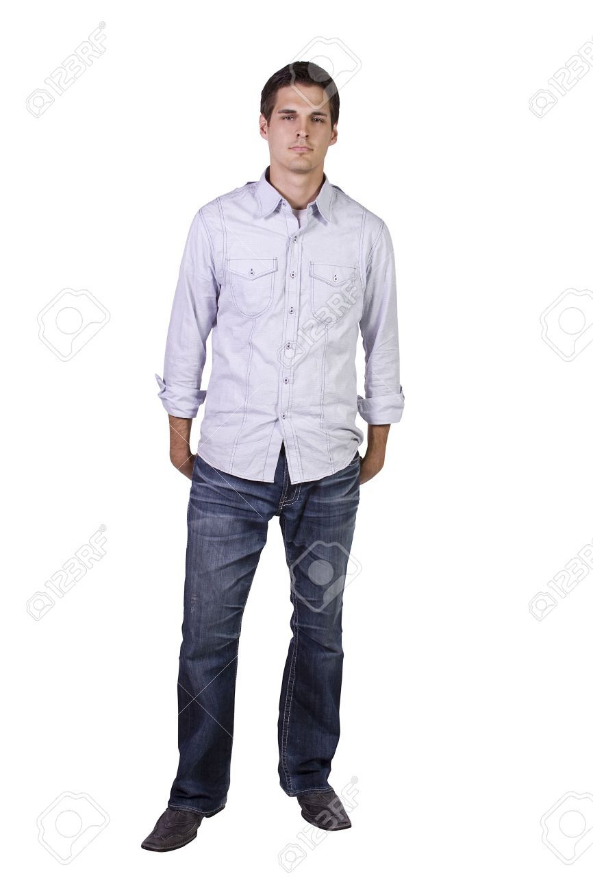 12873959 Isolated Shot Of A Good Looking Young Man Standing Up Stock Photo Jpg 866 1300 Man Standing How To Look Better Man