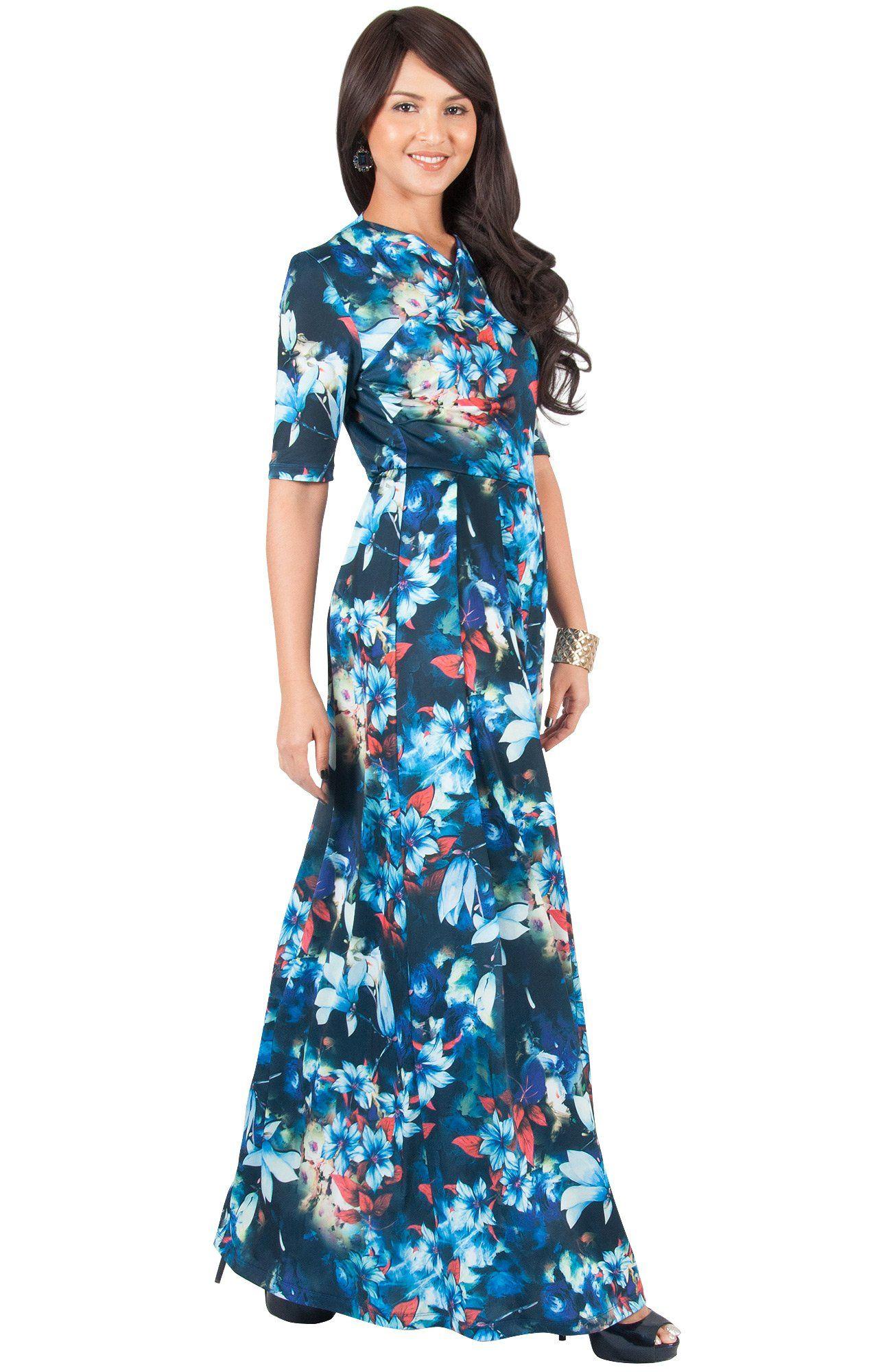 827b7ecb974f Maternity Outfits - beautiful maternity dresses   KOH KOH Plus Size Women  Long Flowy Summer Short