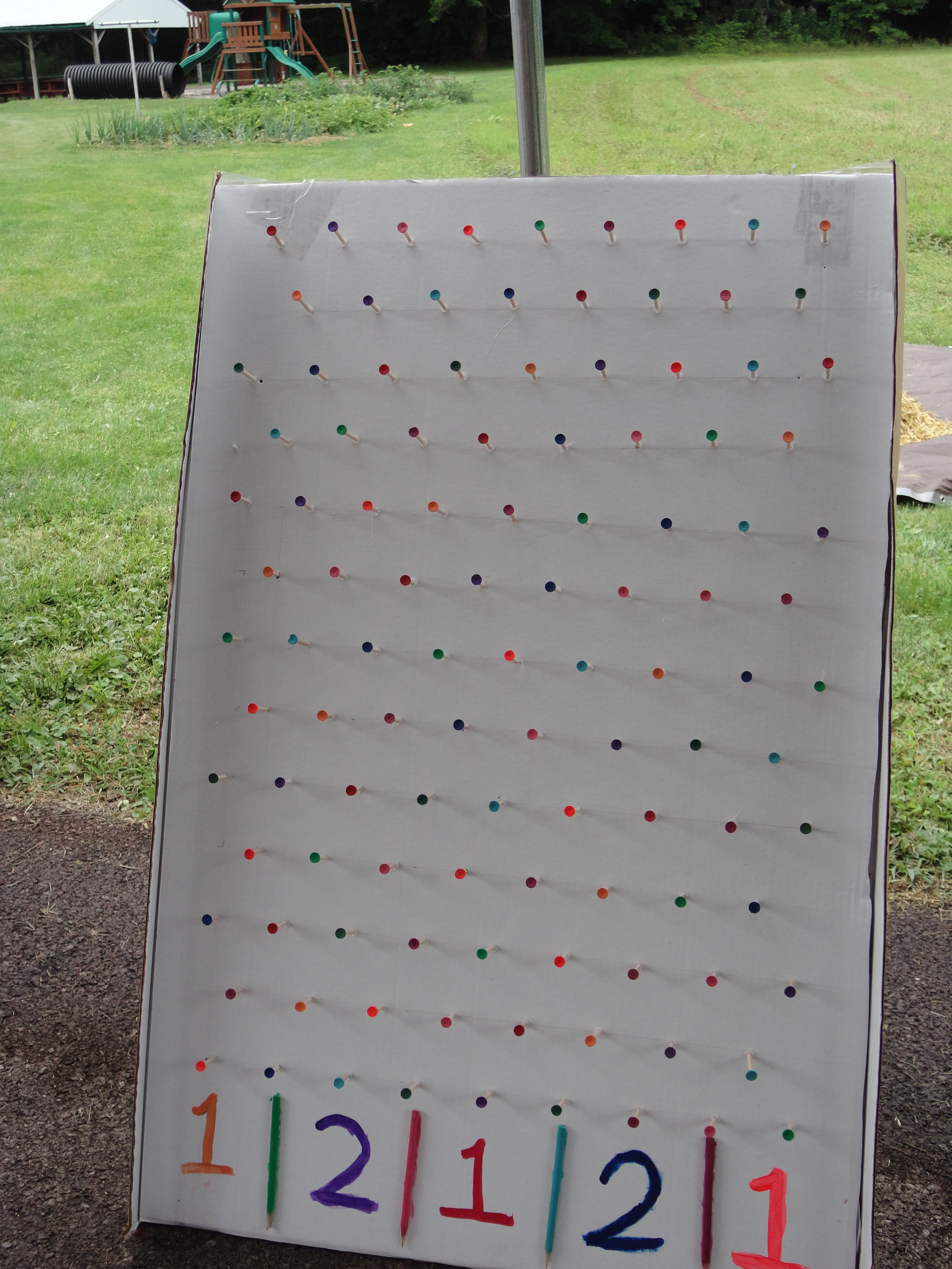 Plinko game triple sheet thickness of cardboard and golf tees i plinko game triple sheet thickness of cardboard and golf tees i used a dot solutioingenieria Choice Image