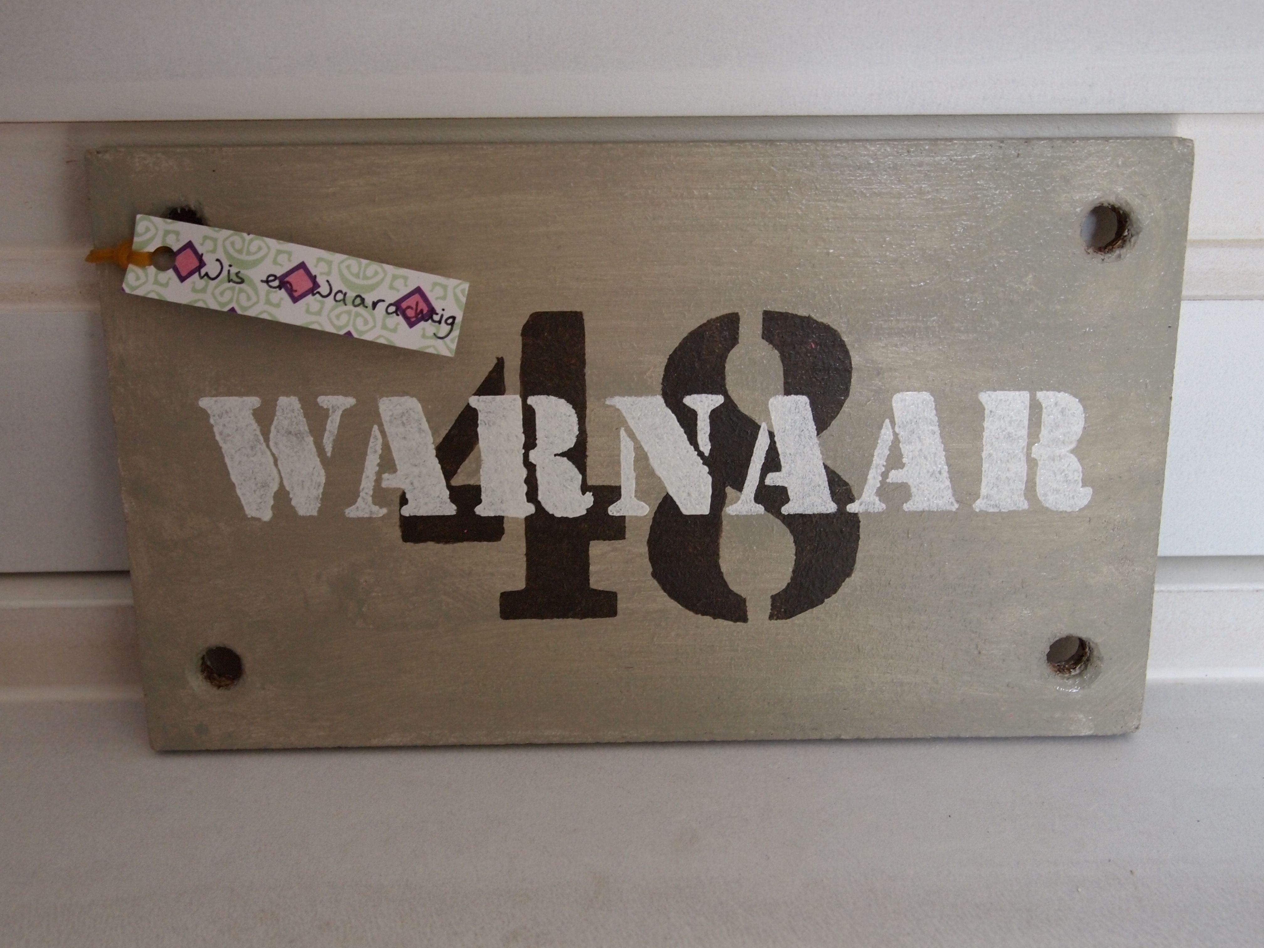 Naambord Voordeur Landelijk : Naambord voor bij de voordeur via naamcadeautje.nl leuk #kado voor