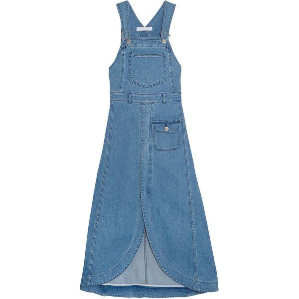 Denim Midi Dress - Mid denim See By Chlo XFoQn2jG