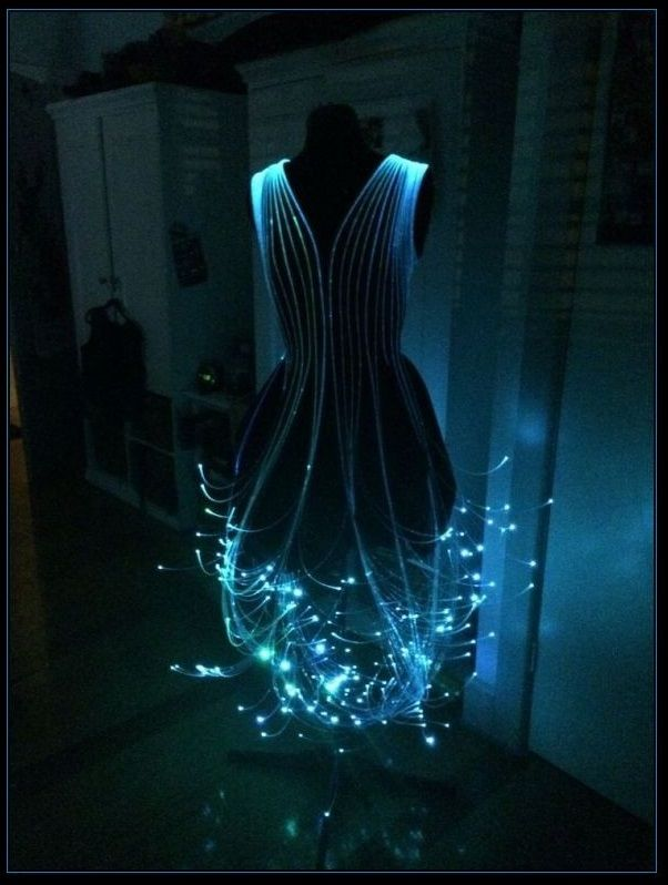 vestido de fibra óptica | moda alternativa | dresses, fiber optic