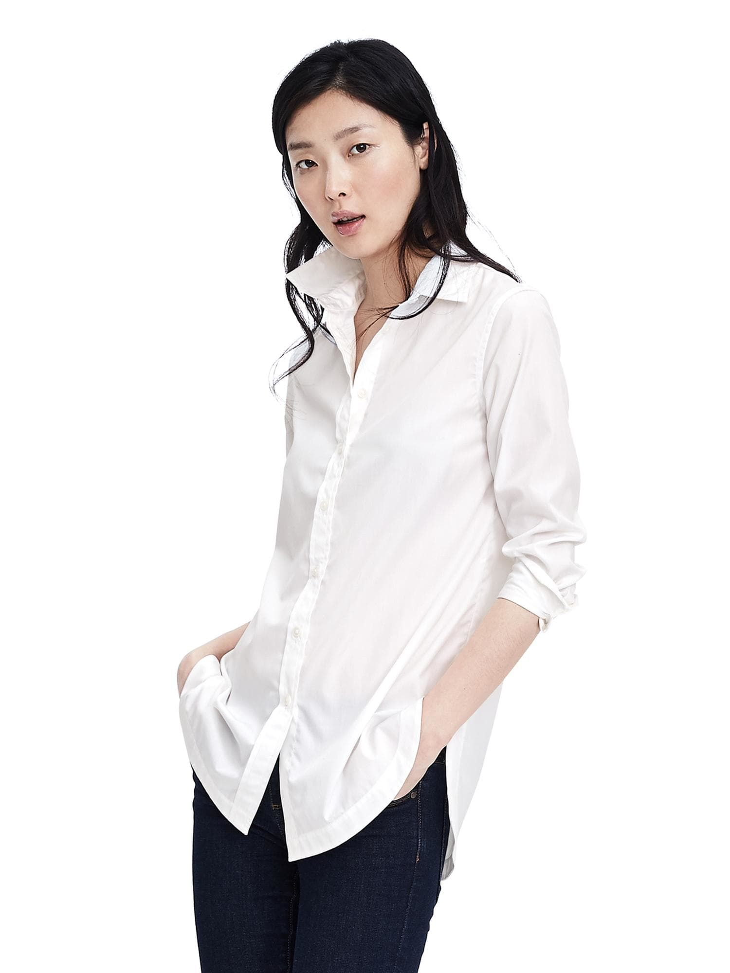 Banana Republic. Oversized white shirts 😍 White long