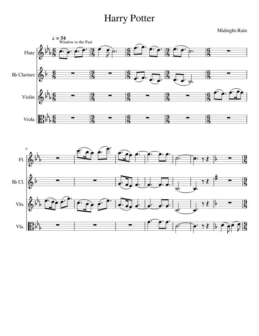 Print And Download In Pdf Or Midi Harry Potter This Includes
