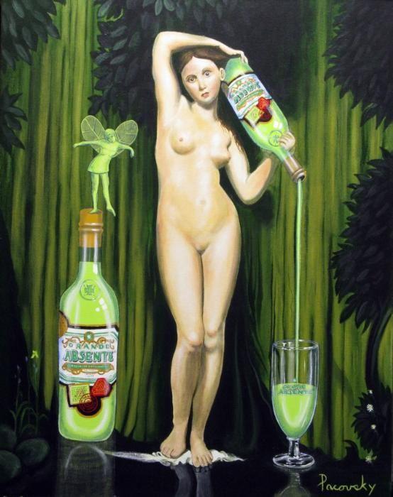 Grande Absente Absinthe Originale art- Homage a Ingres- by John Pacovsky
