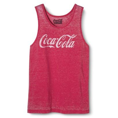 Men's Coca-Cola Burnout Graphic Tank Top