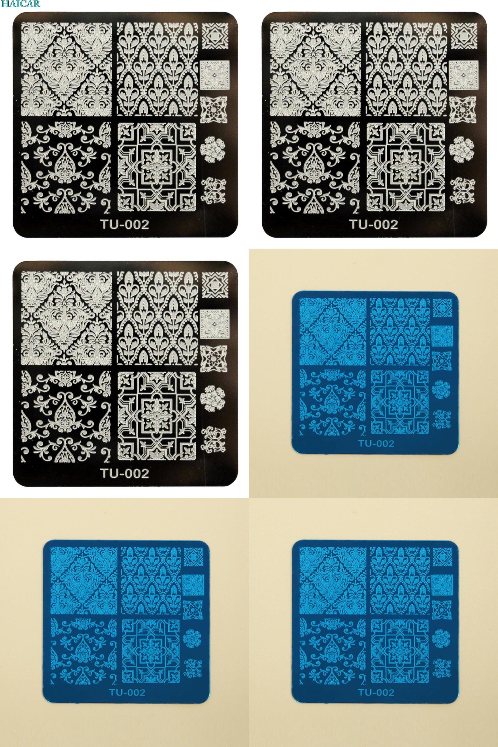 Visit to Buy] 1PC DIY Nail Art Image Stamp Stamping Plates Manicure ...