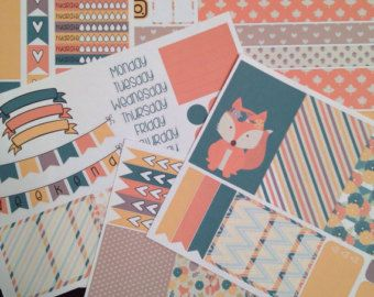 Happy Planner Monthly View-Foxy Fall September by TiaTori on Etsy