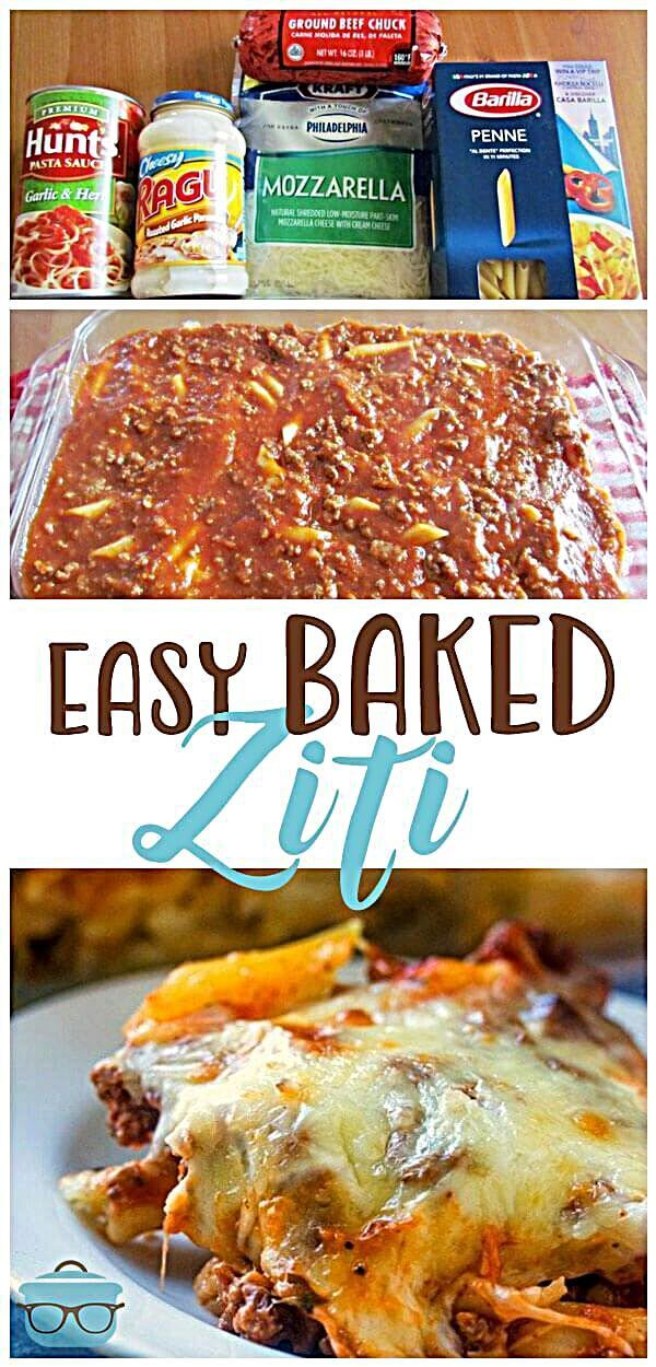Easy Baked Ziti is a filing and tasty comfort food recipe! Pasta, beef, cheese...yum! #BakedZiti #ComfortFood Easy baked ziti - This easy baked ziti is a huge family favorite. Creamy, cheesy alfredo pasta topped with a beefy spaghetti sauce! Then topped with melted cheese! #woadelish #foodprnshare #restaurant #chef #instadaily #follow #foodspring #foodwinewomen #fun #foodinstagram #fooddiaries #fitness #foodgasm #foodiefeature #foodholic #foodadventure