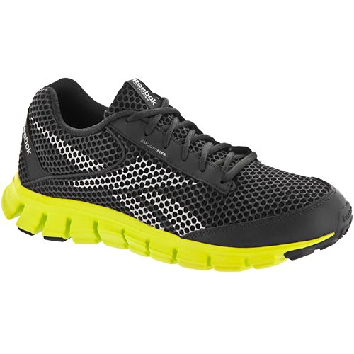 Reebok Smoothflex Cushrun 2.0: Reebok Men's Running Shoes  Black/gray/yellow