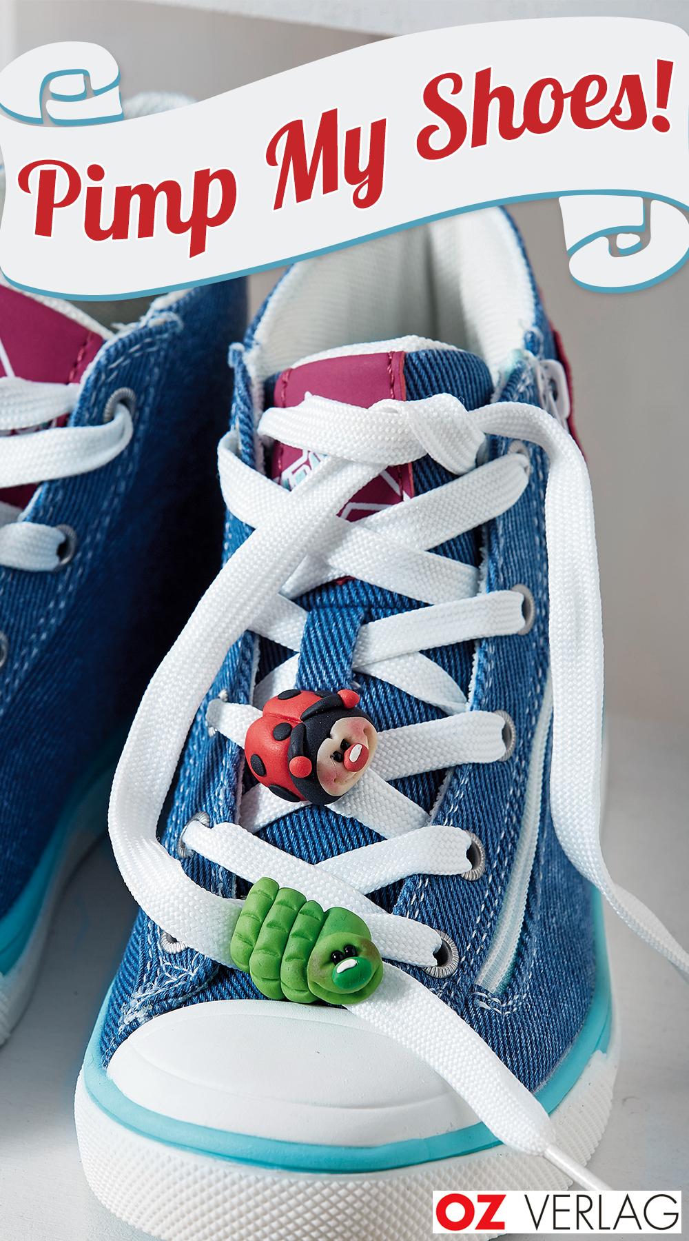 Pimp my shoes mit Fimo-Figuren #bonecas