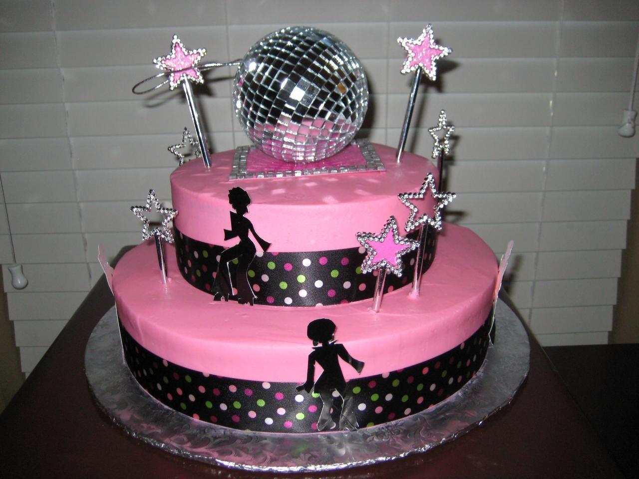 Happy Birthday Queen Of Disco Disco Birthday Party Disco Cake