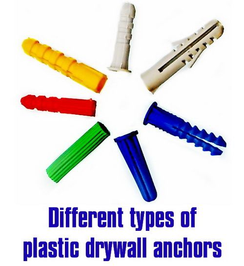 There Are Different Types Of Plastic Wall Anchors For Drywall When