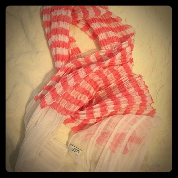 Cute scarf Worn once! It will give your cute plain white shirt a pop!! Make me an offer! LOFT Accessories Scarves & Wraps