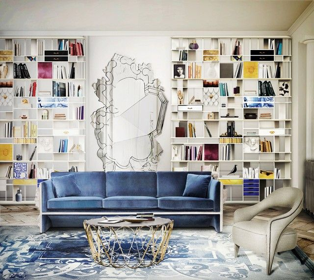 Inspiration and Ideas Beautiful sofas, Living rooms and Room - wohnzimmer ideen blau