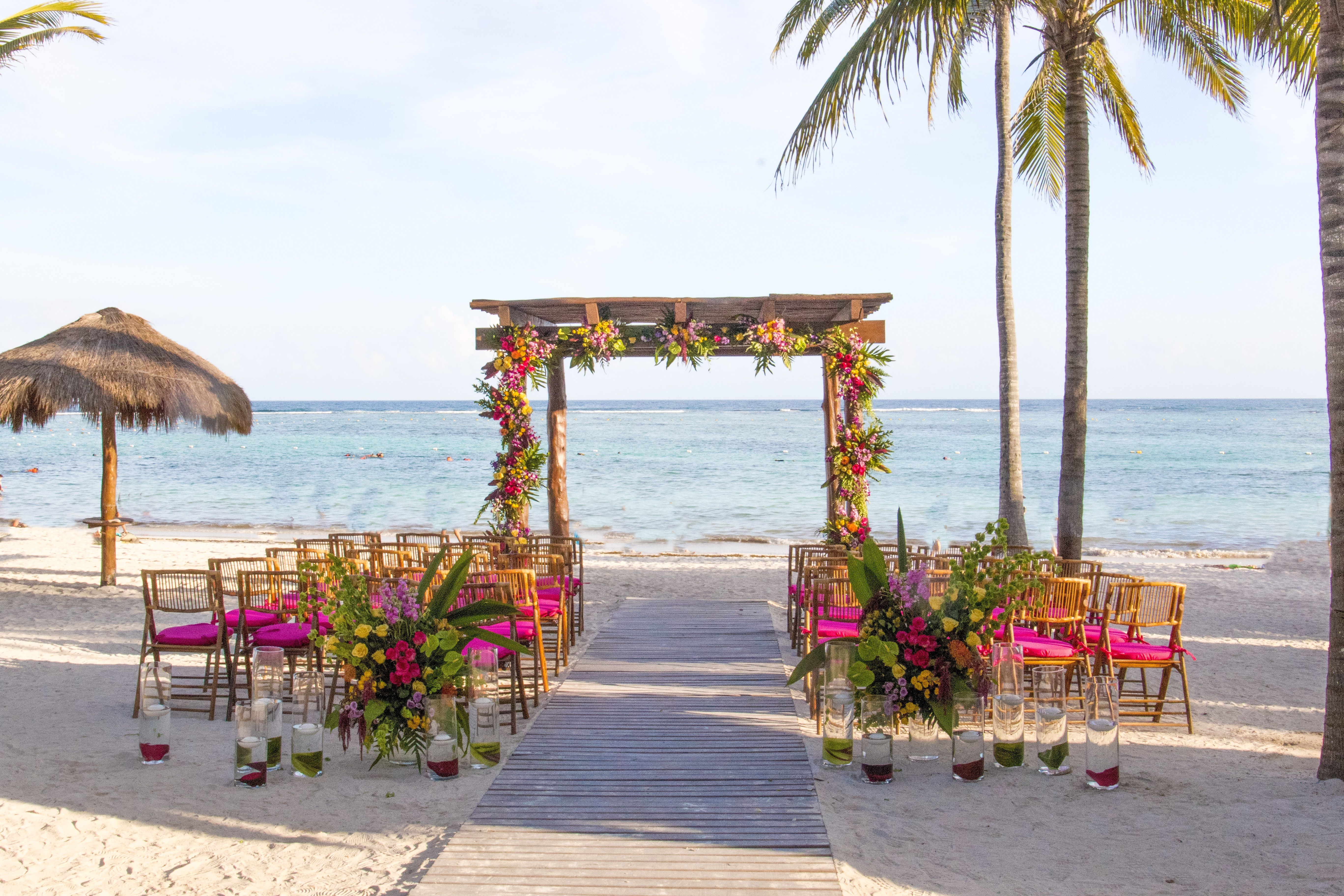 Tropical Fruit Platter For A Beach Wedding: Tropical Beach Wedding Here At Secrets Akumal Riviera Maya