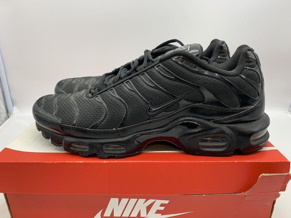 meet acad6 4e078 Nike Air Max Plus TN Triple Black 604133-050 Men's Size 13 ...
