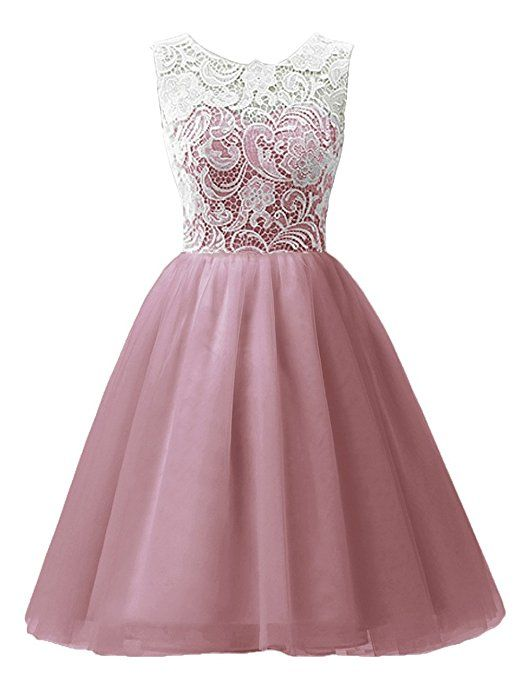 MicBridal® Girl\'s Short Lace and Tulle Party Dress Evening Gown Size ...